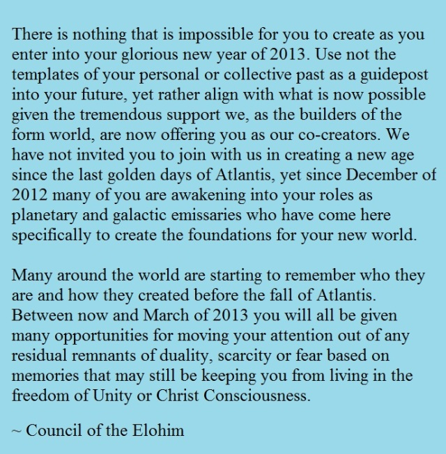 Message from the Elohim